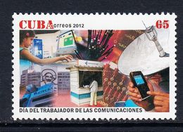 2012 Cuba Communication Workers Day Complete Set Of 1 MNH - Cuba
