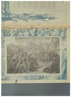 JM07.06 / VIEUX PAPIERS /  PROTEGE-CAHIERS - HISTOIRE / WITIKIND - EVEQUES FRANCAIS - CHARLEMAGNE...1892.... - Protège-cahiers
