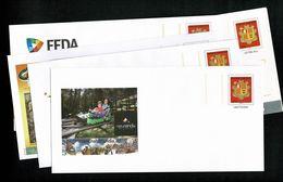 ANDORRE ANDORRA Superbe Lot De 5 PAP Prêt à Poster Commerciaux Divers Thèmes Illustrés  Tous Différents Lot 5   LUXE - Postwaardestukken & Prêts-à-poster