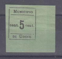 Italia 1918 Occupazione Municipio Di Udine Mh - 8. Ocupación 1ra Guerra