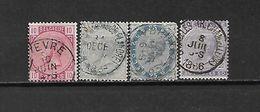 BELGIO - 1883 - N. 38/41 USATI (CATALOGO UNIFICATO) - 1883 Leopold II