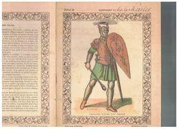 JM07.06 / VIEUX PAPIERS /  PROTEGE-CAHIERS (1892...1898 ) - HISTOIRE- COSTUMES MILITAIRES / FANTASSIN ITALIEN .... - Protège-cahiers