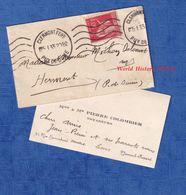 Carte De Visite Ancienne & Son Enveloppe - CLERMONT FERRAND - Madame & Monsieur Pierre COLOMBIER Voyageurs - 1933 - Visiting Cards