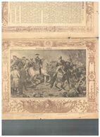 JM07.06 / VIEUX PAPIERS /  PROTEGE-CAHIERS (1892...1898 ) - FRANCE -  HISTOIRE - LA BATAILLE DE LAWFELD  EN 1747 - Protège-cahiers