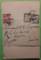 France TAXE DUVAL 1 C Noir + 5c Bleu Obl AVIGNON Vaucluse Sur Papillon Accolé Carte Cartolina SAN REMO Italia 1900, TB R - 1859-1955 Covers & Documents