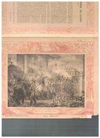 JM07.06 / VIEUX PAPIERS /  PROTEGE-CAHIERS (1892...1898 ) - FRANCE-HISTOIRE-LE MARECHAL MONCEY A LA BARRIERE CLICHY 1814 - Protège-cahiers