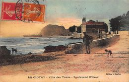 CPA LA CIOTAT -Villa Des Tours - Boulevard Wilson - La Ciotat