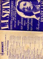 Concours Chanson Deauville La Seine GP 1948 Renée Lamy Guy Lafarge Flavien Monod Disque Pathé Royalty Paris - Partituras