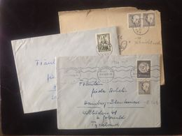 Sweden,  3 Circulated Covers To Germany (Hamburg), 1954 & 1955 - Suède