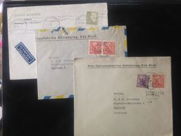 Sweden,  3 Circulated Covers To Germany (Hamburg), 1948, 1960 And ? - Suède