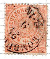 ALLEMAGNE - Confédération De L'Allemagne Du Nord - 1869 - N° 14 - 1/2 Groschen Orange - Norddeutscher Postbezirk (Confederazione Germ. Del Nord)