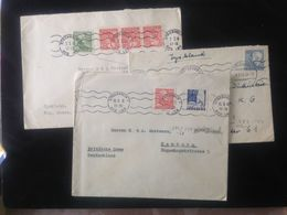 Sweden,  3 Circulated Covers To Germany (Hamburg), 1948, 1954 - Suède