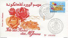 "Maroc;FDC 1973, TP N°678 "" Flore Marocaine ""fête Des Roses;Morocco;Marruecos - Morocco (1956-...)"