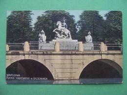 Russian Poland 1910s WARSAW, Warszawa. Pomnik Sobieskiego W Lazienkach. Russian Postcard - Polen