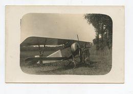 Carte Photo . Aviation . Biplan De Combat Avec Aviateur . Avion . - Matériel