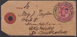 GB KEVII PARCEL TAG WHITLEY BAY R.S.O. - Storia Postale