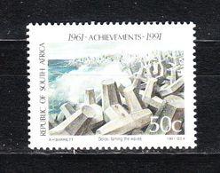 Sud Africa   -  1991.  Costruzione Dei Frangiflutti. Breakwater Construction. MNH - Protezione Dell'Ambiente & Clima