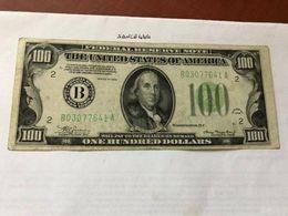 United States Franklin $100.00  Banknote 1934 - Nationale Valuta