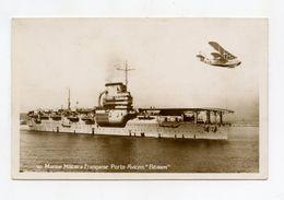Carte Photo . Aviation Navale . Le Porte Avions BEARN Avec Hydravion - Matériel