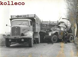 ACCIDENT DE CAMION-CITERNE MERCEDES A SENLIS GENDARME TRAFFIC TRUCK CAR PHOTO 60 OISE - Auto's