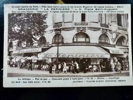 CARTE POSTALE _ CPA VINTAGE : PARIS _ Brasserie LA PEPINIERE      // CPA.L.Div41 - Cafés, Hotels, Restaurants