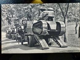 CARTE POSTALE _ CPA VINTAGE : WW1 WWI Char RENAULT FT-17 _ Arrivée Des Chars Pour L'Attaque      // CPA.L.Div41 - Matériel