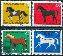 BRD - Mi 578 / 581 - OO Gestempelt (A) - Pferde, Jugend 69 - [7] Repubblica Federale