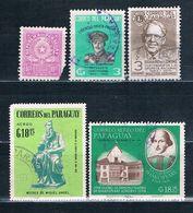 SELLOS USADOS DE PARAGUAY Y BOLIVIA - Timbres