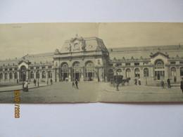 Belgien Mons Bahnhof Doppelkarte 1914 Nach Eichstätt  (45854) - Guerre 1914-18