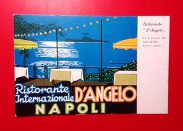 Napoli, Ristorante Internazionale D'Angelo- Standard Size, Divided Back, New, Ed.M. Raffione. - Napoli (Naples)