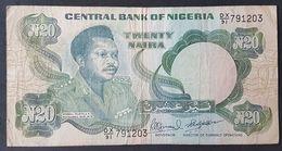 FD0513 - Nigeria 20 Naira Banknote 1984-2000 P.26f #DX/91 791203 - Nigeria