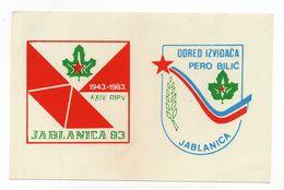 1983. YUGOSLAVIA, BOSNIA,JABLANICA,SCOUTS,PERO BILIC,JABLANICA,STATIONERY CARD,MINT - Postal Stationery
