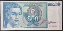 RS - Yugoslavia 500 Dinara Banknote 1990 P.106 #AE9746897 - Yougoslavie