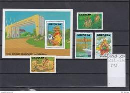 Grenada Michel Cat.No. Mnh/** 1737/1740 + Sheet 202 Scouts - Grenada (1974-...)