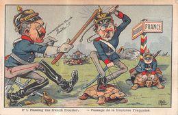 Passage De La Frontière Française - Belge - Kaiser - Guillaume - Passing The French Frontier - Guerre 1914-18 - Tortue - Humour