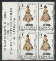 España 1971, Traje Valencia Bk4 + Etiq Ed=2014 (**) - 1971-80 Ongebruikt