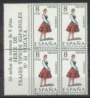 España 1971, Traje Vizcaya Bk4 + Etiq Ed=2016 (**) - 1971-80 Ongebruikt