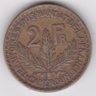 Territoire Sous Mandat De La France. Cameroun. 2 Francs 1924. KM# 3, Lec# 10 - Cameroon