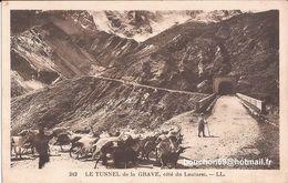 05 Tunnel De La Grave Cote Lautaret Troupeau De Chevres Goat RARE Petite Carte - Autres Communes