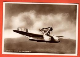MOA-02 RARE Avion Militaire Italien Italia Crocia Aerea Del Decennale Alba Della Partenza, In Volo, En Vol De Croisière. - 1919-1938
