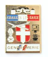 Pin's GENDARMERIE De CHALLES LES EAUX (73) - Blason - Grenade - Planeur - Negopub - J458 - Army
