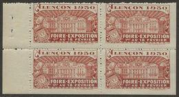 France 1929Vignette AlençonFoire ExpositionBloc TB Sans Charnière - Commemorative Labels