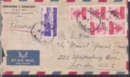 Liban - 1952 - Lettre - Envoyé Aux Grande Bretagne - Cygnus - Lebanon