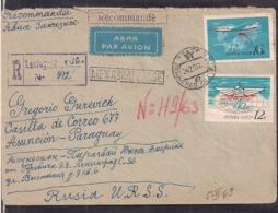 Russie - 1963 - Lettre To Paraguay - Aviation Commerciale - Cygnus - Vliegtuigen