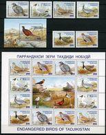 Tajikistan 1996 MiNr. 80 - 85 (Block 6) Tadschikistan Vogel Birds 6v + 1s\sh + 1m\sh MNH** 29,50 € - Tadjikistan