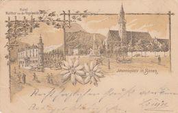 BOZEN-BOLZANO-HOTEL=WALTER=JOHANNISPLATZ-GRUSS AUS(2 VEDUTINE)CARTOLINA VIAGGIATA IL 20-7-1897-RETRO INDIVISO - Bolzano (Bozen)