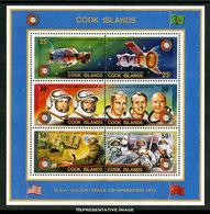 Scott 429c   25c And 25c, 30c And 30c And 50c And 50c Apollo Soyuz Space Test Project Se-tenant Souvenir Sheet. Mi... - Cook