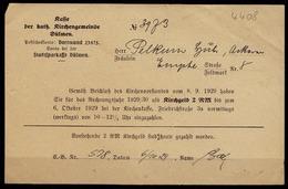 Empte Bei Dülmen 1929 Kirchgeld Quittung Kath. Kirchengemeinde   (6922 - Francobolli