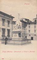 FIRENZE-PIAZZA-MENTANA-MONUMENTO AI CADUTI A MENTANA-CARTOLINA NON VIAGGIATA -ANNO 1900-1904-RETRO INDIVISO - Firenze (Florence)