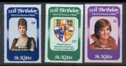St Kitts 1982 Princess Diana 21st Birthday MUH - St.Kitts Y Nevis ( 1983-...)